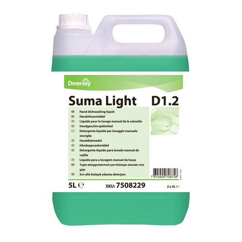 Diversey Suma Light D1.2 Dishwashing Liquid 5 Litre Pack of 2 7508229