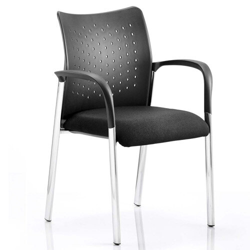 Academy Boardroom &Visitor Chair Black With Arms
