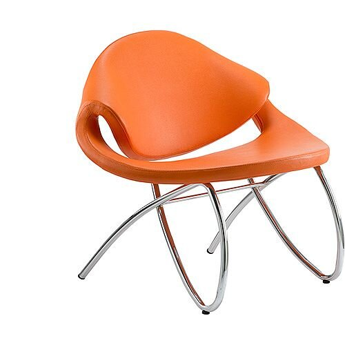 Beau Reception Boardroom &Visitor Chair Orange With Arms