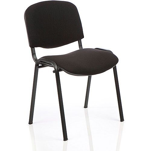 ISO Stacking Chair Black Fabric Black Frame