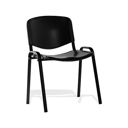 ISO Stacking Chair Black Poly Black Frame