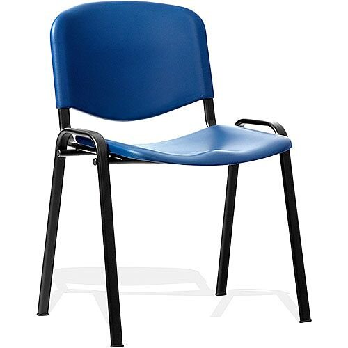 ISO Stacking Chair Blue Poly Black Frame