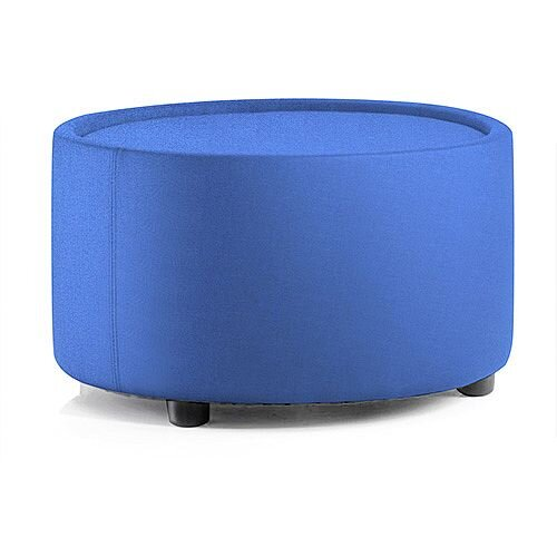 Neo Round Reception Coffee Table Blue Fabric