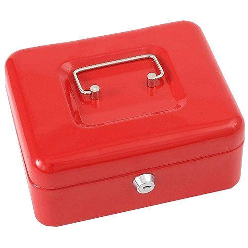 "Phoenix 8"" Cash Box CB0101K with Key Lock Red"