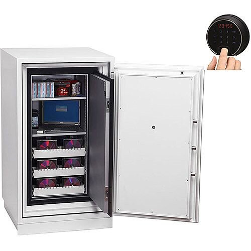 Phoenix Data Commander DS4621F Size 1 Data Safe with Fingerprint Lock White 143L 120min Fire Protection