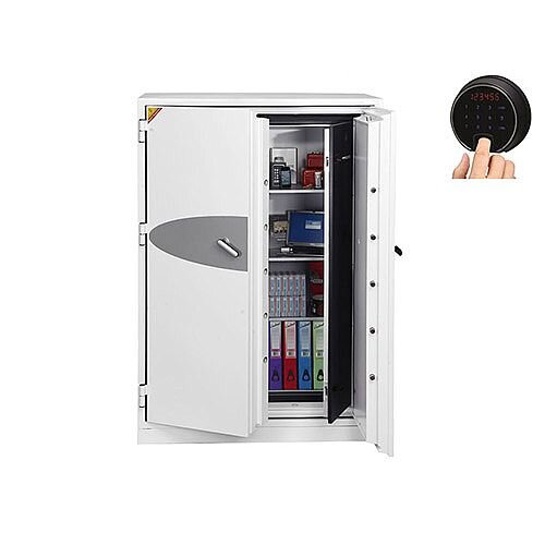 Phoenix Data Commander DS4623F Size 3 Data Safe with Fingerprint Lock White 457L 120min Fire Protection