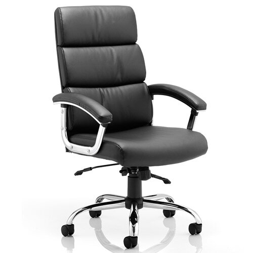 Desire High Executive Office Chair Black With Arms