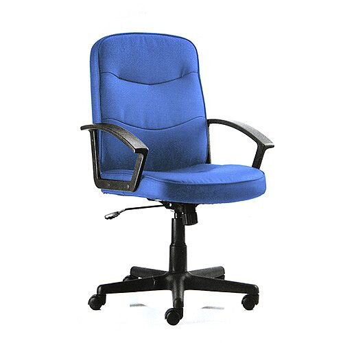 Peachy Harley Executive Office Chair Blue Fabric With Arms Dailytribune Chair Design For Home Dailytribuneorg