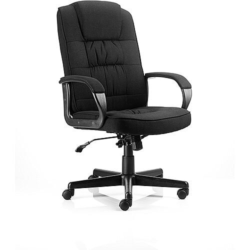 Moore Executive Office Chair Black Fabric With Arms