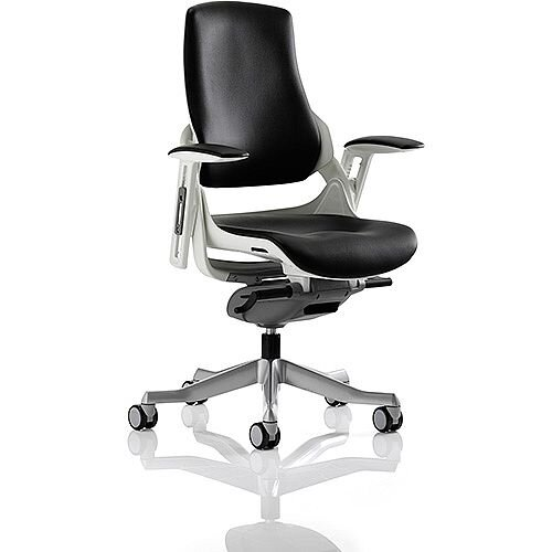 Zure Executive Office Chair Black Leather With Arms