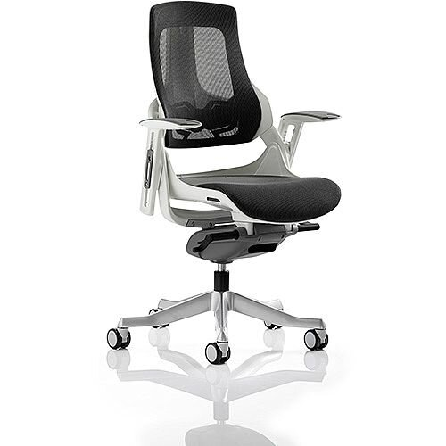 Zure Executive Office Chair Charcoal Mesh With Arms