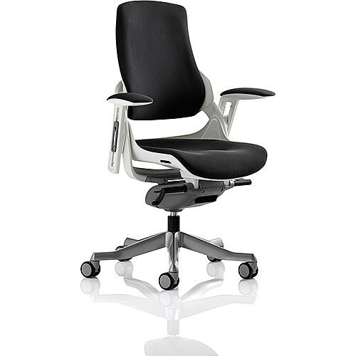 Zure Executive Office Chair Black Fabric With Arms