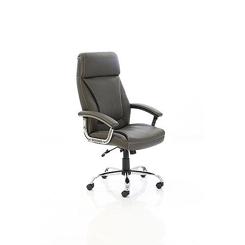 Penza Executive High Back Brown Leather Office Chair With Arms