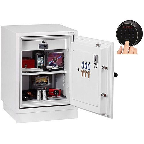 Phoenix Fire Fighter FS0441F Size 1 Fire Safe with Fingerprint Lock White 63L 90min Fire Protection