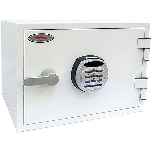 Phoenix Titan FS1281E Size 1 Fire &Security Safe with Electronic Lock White 19L 60mins Fire Protection