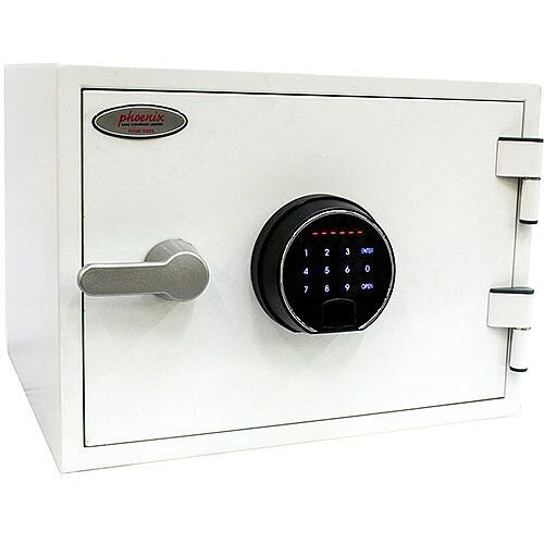 Phoenix Titan FS1281F Size 1 Fire &Security Safe with Fingerprint Lock White 19L 60min Fire Protection