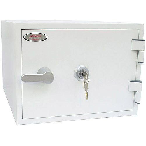 Phoenix Titan FS1281K Size 1 Fire &Security Safe with Key Lock White 19L 60mins Fire Protection