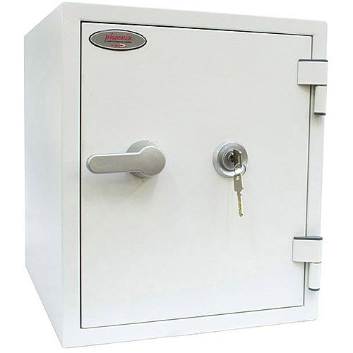 Phoenix Titan FS1282K Size 2 Fire &Security Safe with Key Lock White 25L 60mins Fire Protection