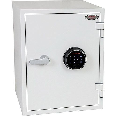 Phoenix Titan FS1283F Size 3 Fire &Security Safe with Fingerprint Lock White 36L 60min Fire Protection