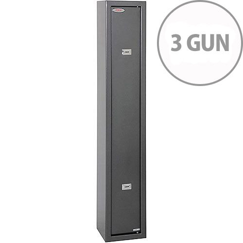 Phoenix Lacerta GS8001K 3 Gun Safe with 2 Key Locks Metalic Graphite