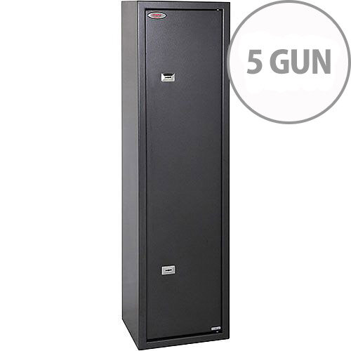 Phoenix Lacerta GS8002K 5 Gun Safe with 2 Key Locks Metalic Graphite