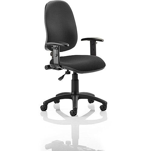 Eclipse I Lever Task Operator Office Chair Black With Height Adjustable Arms