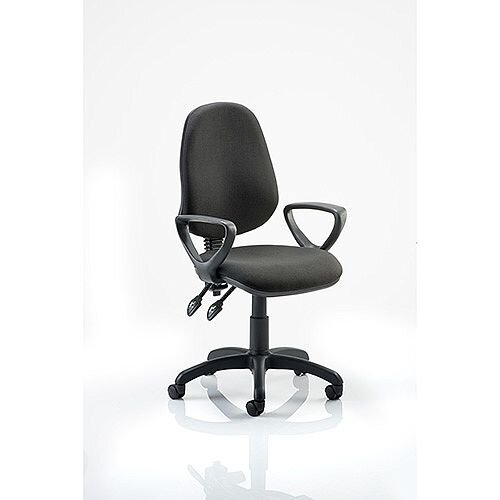 Eclipse II Lever Task Operator Office Chair Black With Loop Arms