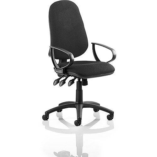 Eclipse XL III Lever Task Operator Office Chair Black With Loop Arms