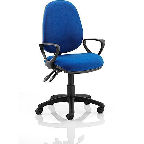Luna II Lever Task Operator Office Chair Blue With Loop Arms