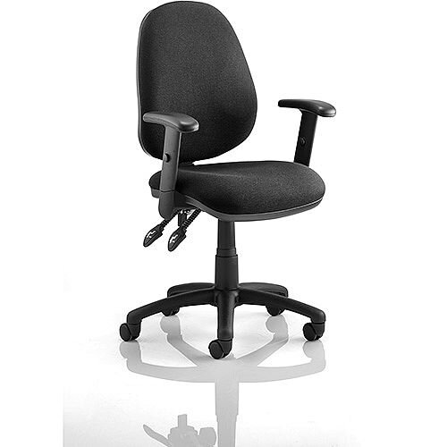 Luna II Lever Task Operator Office Chair Black With Height Adjustable Arms
