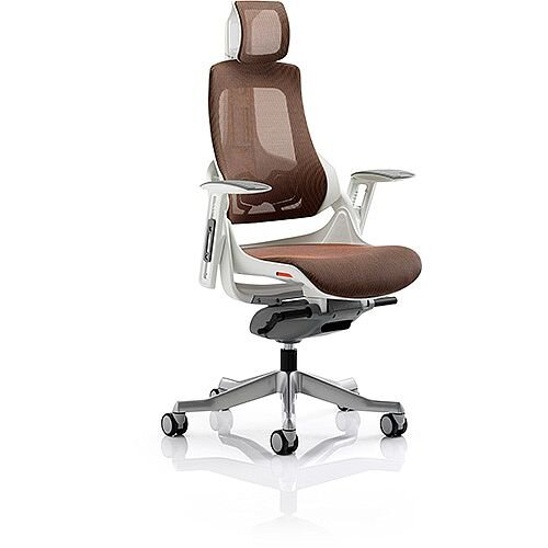 Zure Executive Office Chair Mandarin Mesh With Arms &Headrest