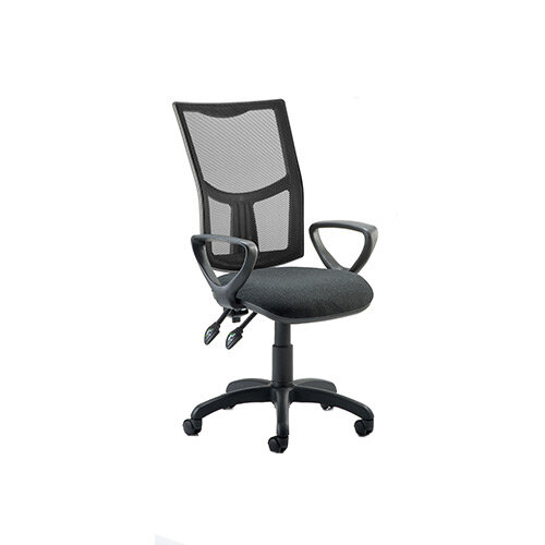 Eclipse II Lever Task Operator Office Chair Mesh Back With Black Seat &Loop Arms