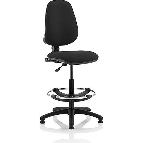 Eclipse I Lever Task Operator Office Chair Black With Draughtsman Kit