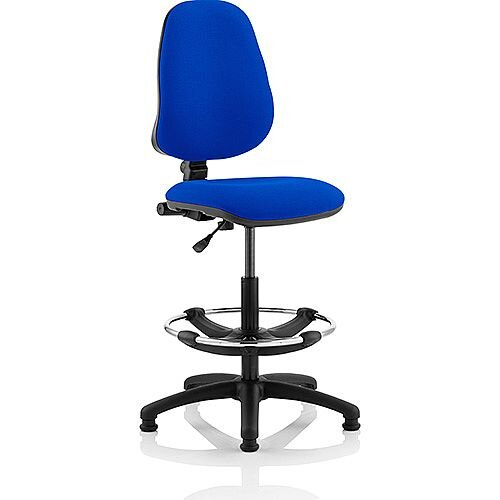 Eclipse I Lever Task Operator Office Chair Blue With Draughtsman Kit