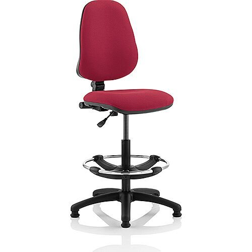 Eclipse I Lever Task Operator Office Chair Wine With Draughtsman Kit