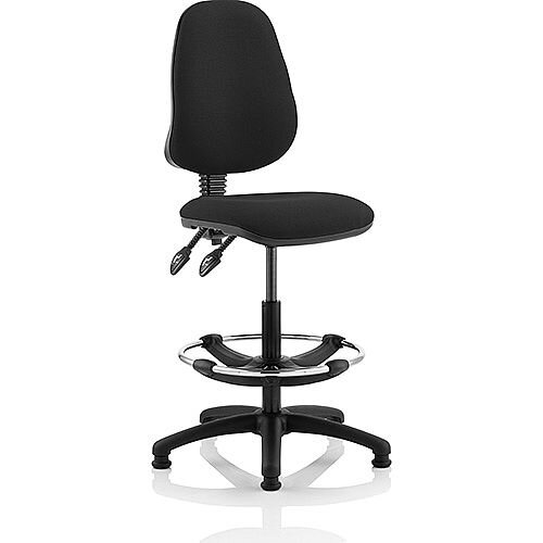 Eclipse II Lever Task Operator Office Chair Black With Draughtsman Kit