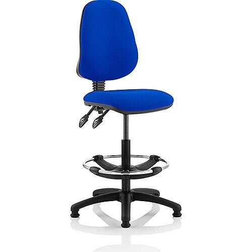 Eclipse II Lever Task Operator Office Chair Blue With Draughtsman Kit