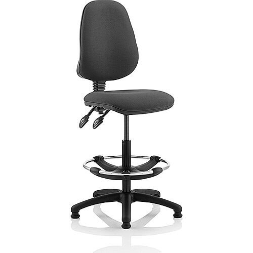 Eclipse II Lever Task Operator Office Chair Charcoal With Draughtsman Kit