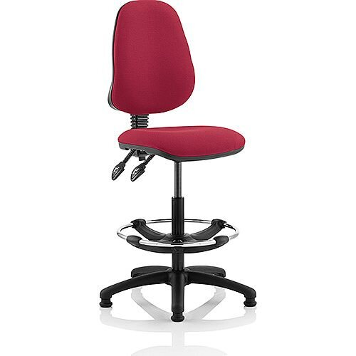 Eclipse II Lever Task Operator Office Chair Wine With Draughtsman Kit