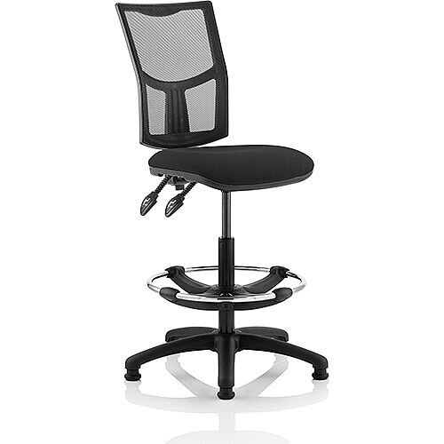 Eclipse II Lever Task Operator Office Chair Mesh Back With Black Seat With Draughtsman Kit