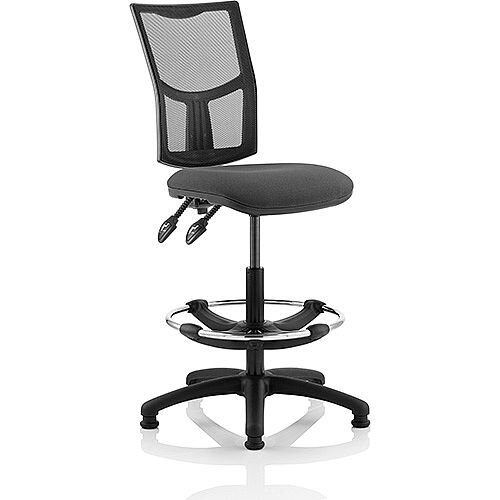 Eclipse II Lever Task Operator Office Chair Mesh Back With Charcoal Seat With Draughtsman Kit