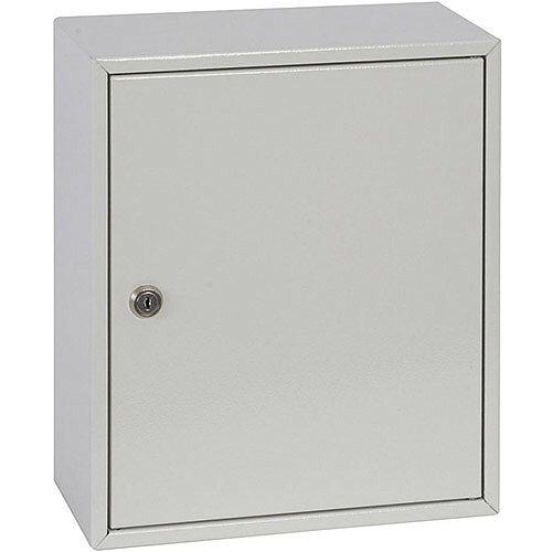 Phoenix Keysure KC0501K 24 Hook Deep Plus Key Cabinet with Key Lock Light Grey