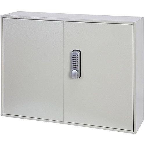Phoenix Keysure KC0503M 100 Hook Deep Plus Key Cabinet with Mechanical Combination Lock Light Grey