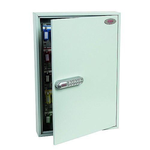 Phoenix Commercial Key Cabinet KC0601E 42 Hook with Electronic Lock. Light Grey