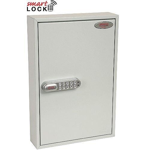 Phoenix Commercial Key Cabinet KC0602E 64 Hook with Electronic Lock. Light Grey
