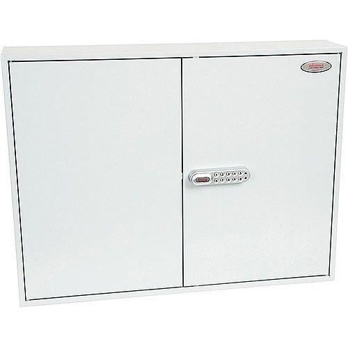 Phoenix Commercial Key Cabinet KC0606E 400 Hook with Electronic Lock. Light Grey