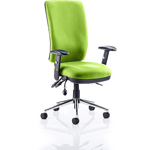 Chiro High Back Task Operator Office Chair Swizzle Green