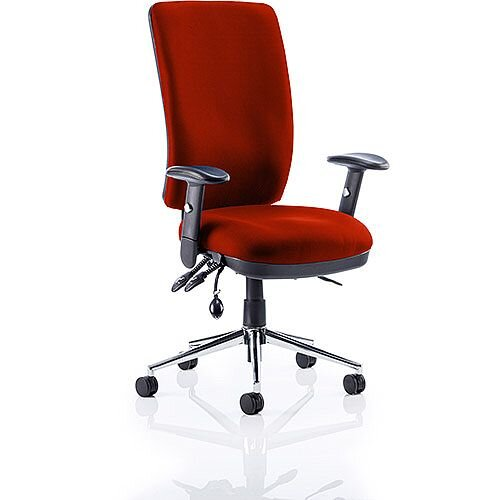 Chiro High Back Task Operator Office Chair Pimento Rustic Orange