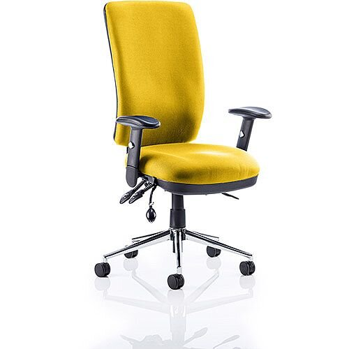Chiro High Back Task Operator Office Chair Sunset Yellow