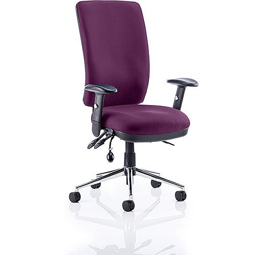 Chiro High Back Task Operator Office Chair Purple